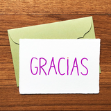 "Japanese ""WASHI"" greeting card / GRACIAS"