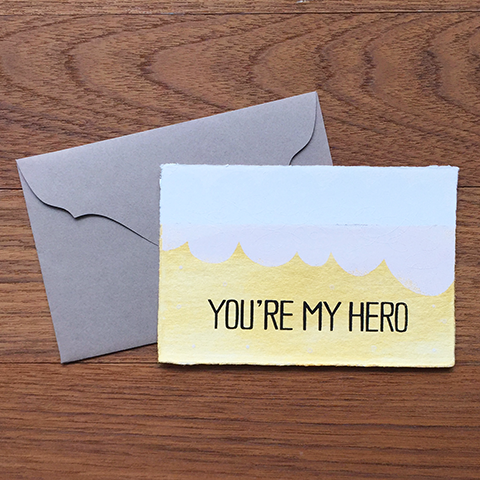 "Japanese ""WASHI"" greeting card / You're my hero"