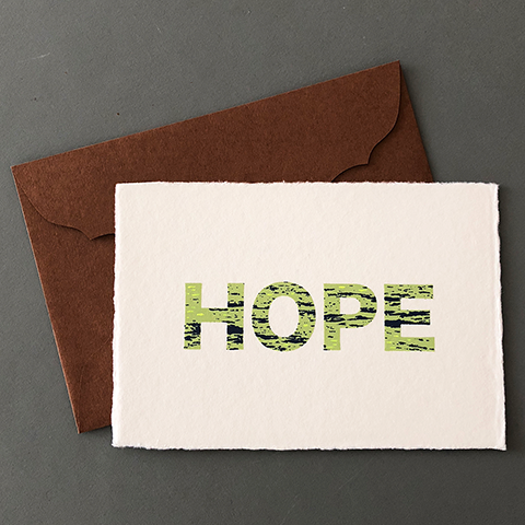 "Japanese ""WASHI"" greeting card / HOPE"