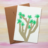 "Japanese ""WASHI"" greeting card / Joshua Tree"