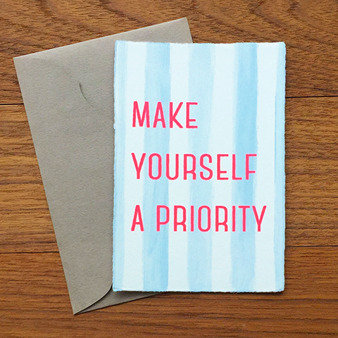 "Japanese ""WASHI"" greeting card / Make yourself a priority"