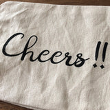 "Hand Screen Printed Canvas Wine Bag ""Cheers!!"""