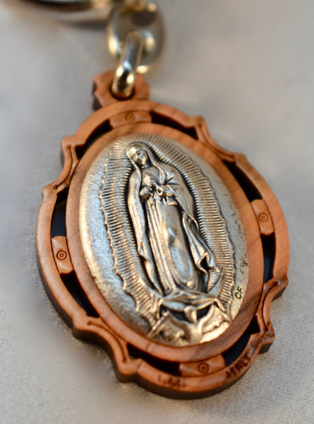 O.L. of Guadalupe - Wooden Key Chain