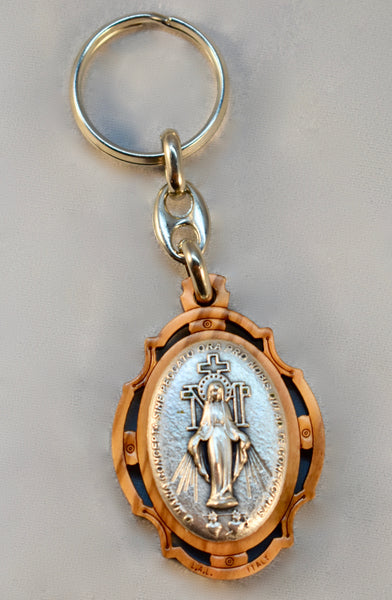 O.L. of Miraculous Medal - Wooden Key Chain