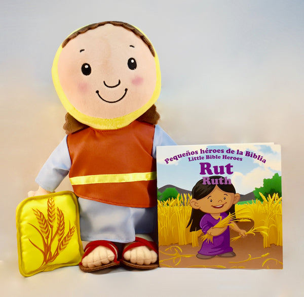 Ruth / Rut - Plush Toy with Bilingual Book