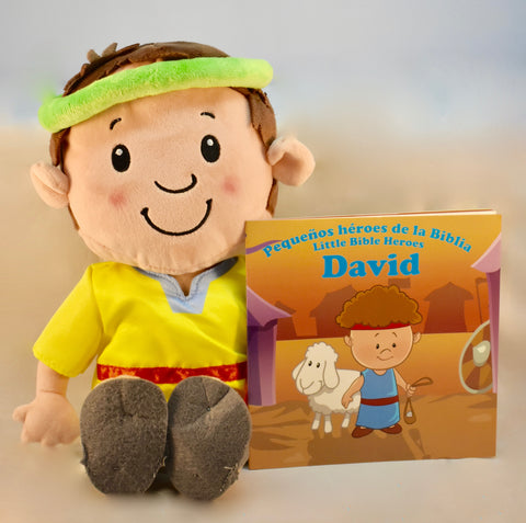 David - Plush Toy with Bilingual Book