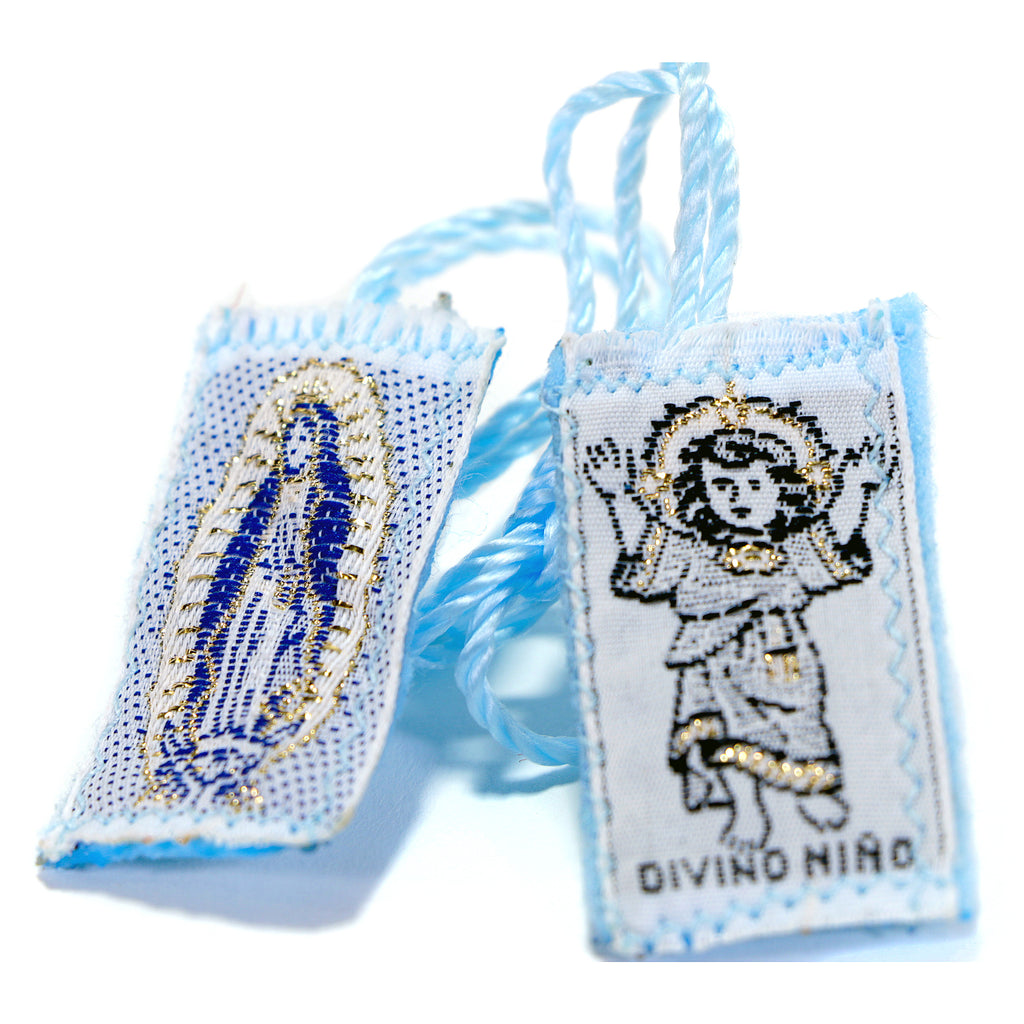 Divine Child/Guadalupe Blue Scapular