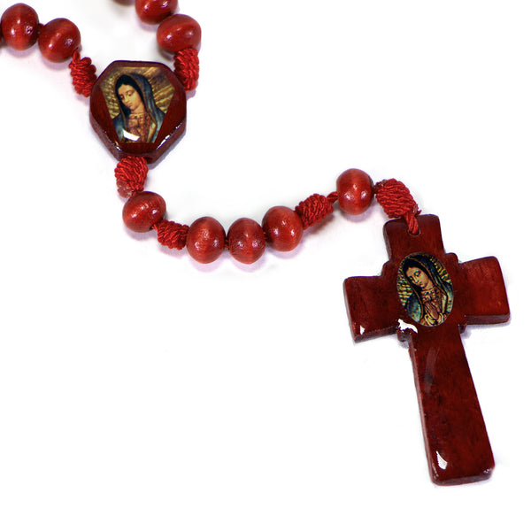 Rosary O.L. of Guadalupe Wood Red