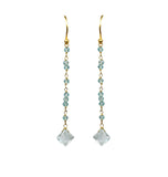 Aquamarine Linear Vermeil Earrings