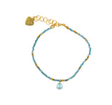 Blue Topaz And Aquamarine Delicate Bracelet