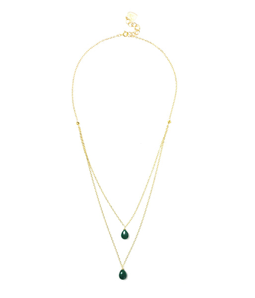Emerald Layered Necklace