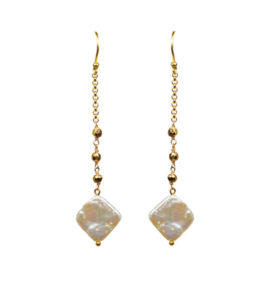 Keshi Pearl Vermeil Earrings