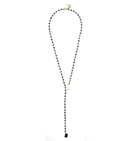 Lapis Lazuli With Drop Necklace