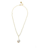 Keshi Pearl Drop Necklace