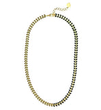 Olive And Black Enamel Chevron Chain