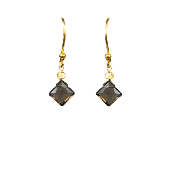 Smoky Topaz Vermeil Earrings
