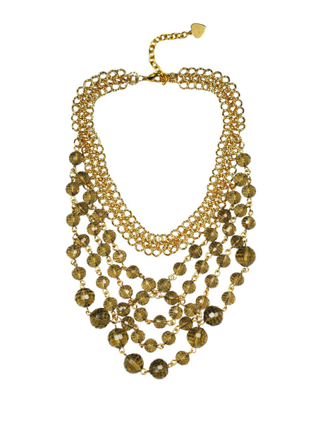 Smoky Topaz Bib Necklace