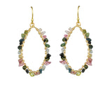 Tourmaline Hoop Vermeil Earrings