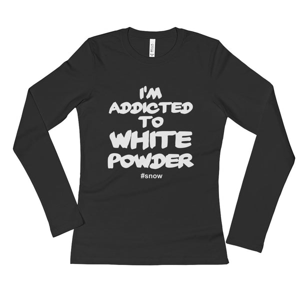 White Powder - Ladies' Long Sleeve T-Shirt