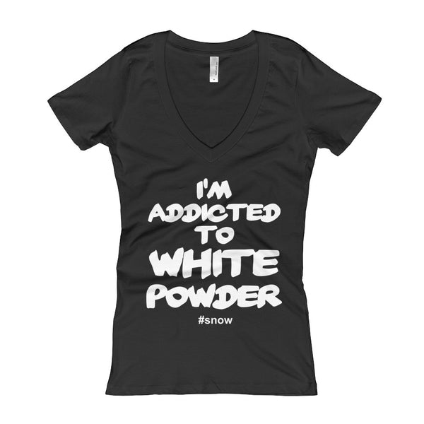White Powder - Women's V-Neck T-shirt