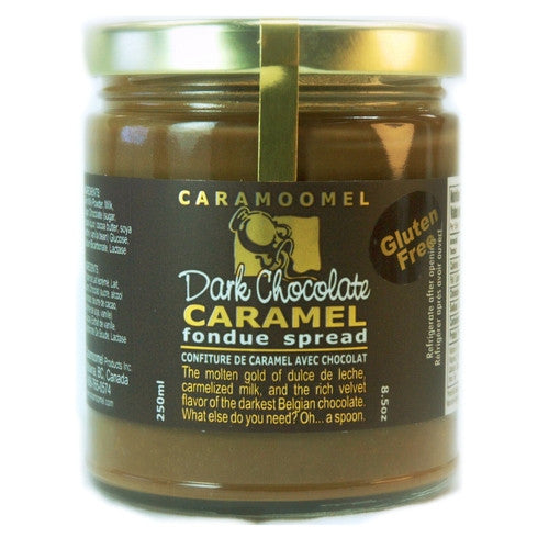 Dark Chocolate Caramel Fondue Spread - 250ml/8.5oz