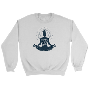 Easy Pose Namaste 6 Feet Away  - Crewneck Sweatshirt