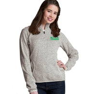 Ladies - Heathered Fleece Pull Over - Oatmeal