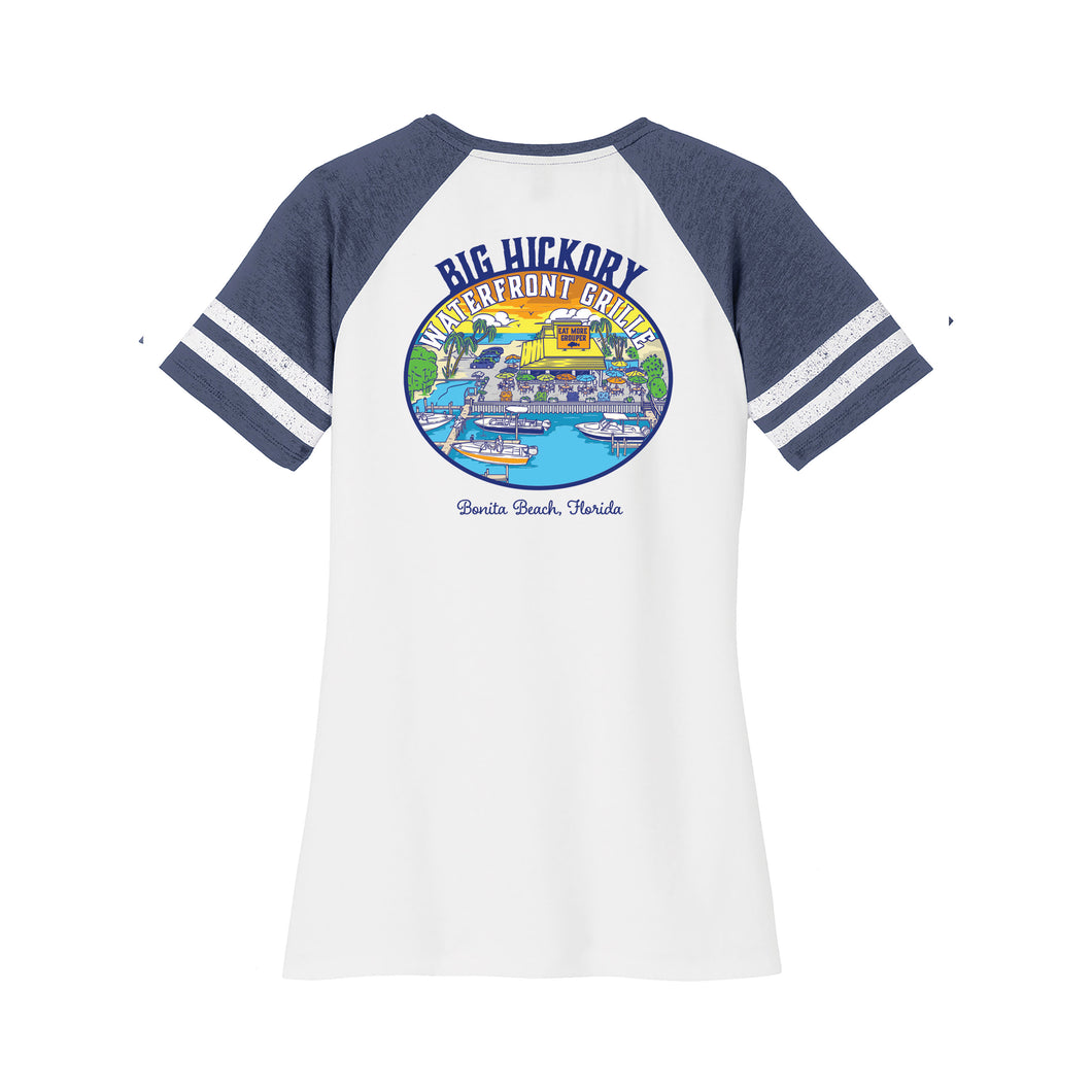 Big Hickory - Women's Game V-Neck Tee