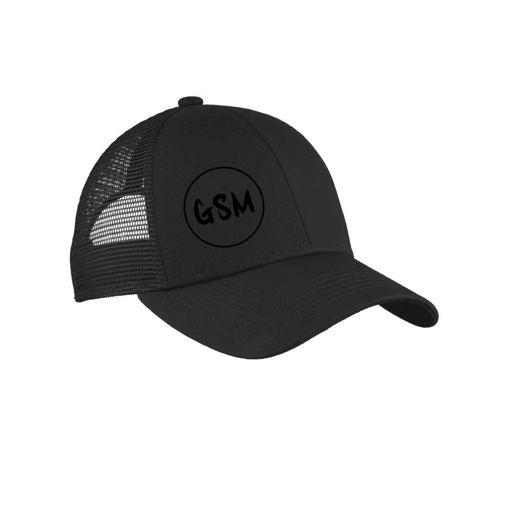 GSM Adjustable Mesh Back Cap - Black