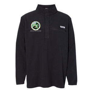 NEW Columbia Harborside Fleece 1/4 Zip Pullover - Office of The Governor Indiana State Seal