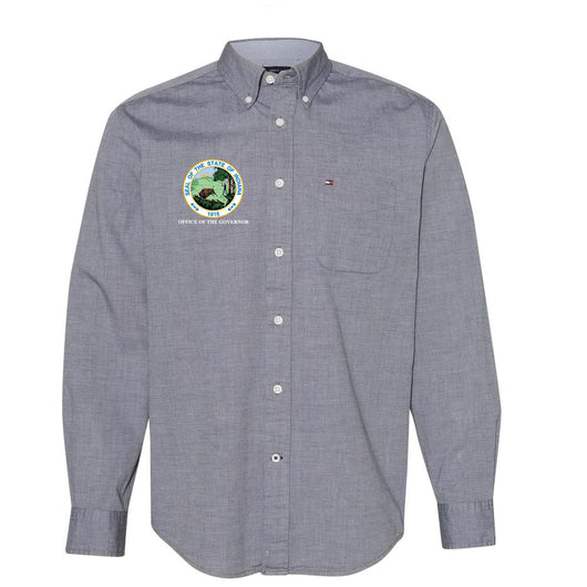 NEW Tommy Hilfiger Capote End-on-End Chambray Shirt