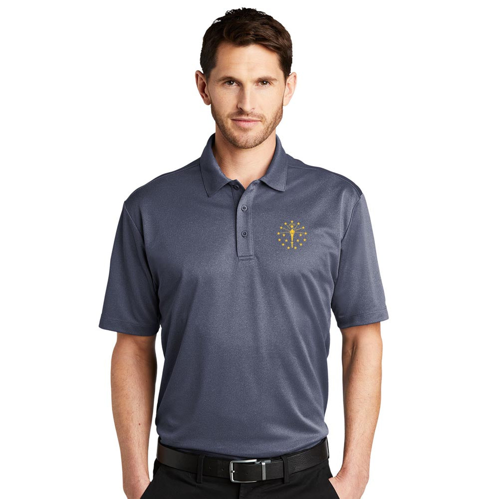 Heathered Silk Touch Performance Polo