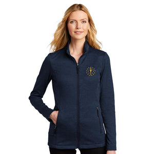 Ladies Collective Striated Fleece Jacket - Indiana Torch