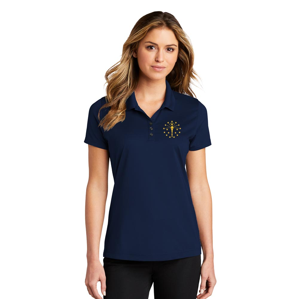 Ladies Eclipse Stretch Polo - Indiana Torch