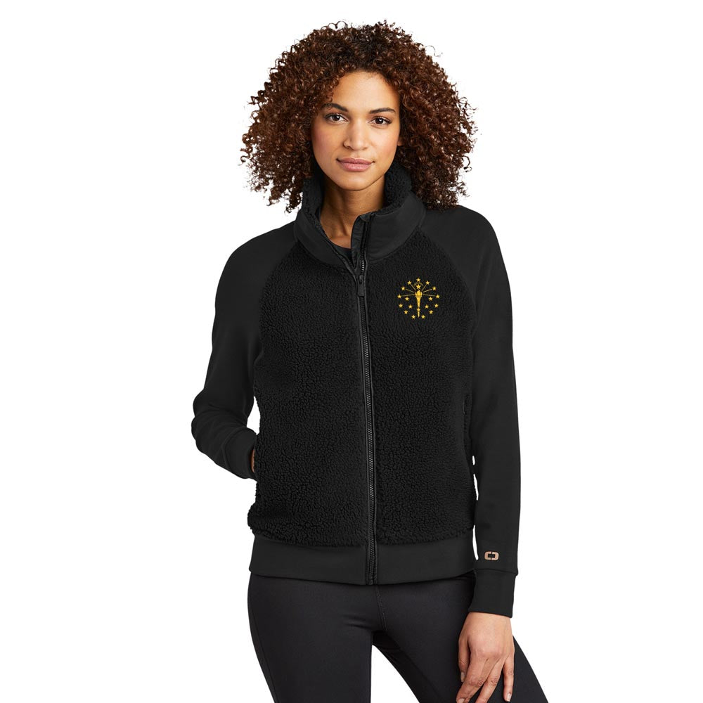 Ladies Luuma Sherpa Full-Zip - Indiana Torch