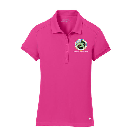 Ladies Dri-FIT Solid Icon Pique Modern Fit Polo - IN GOV