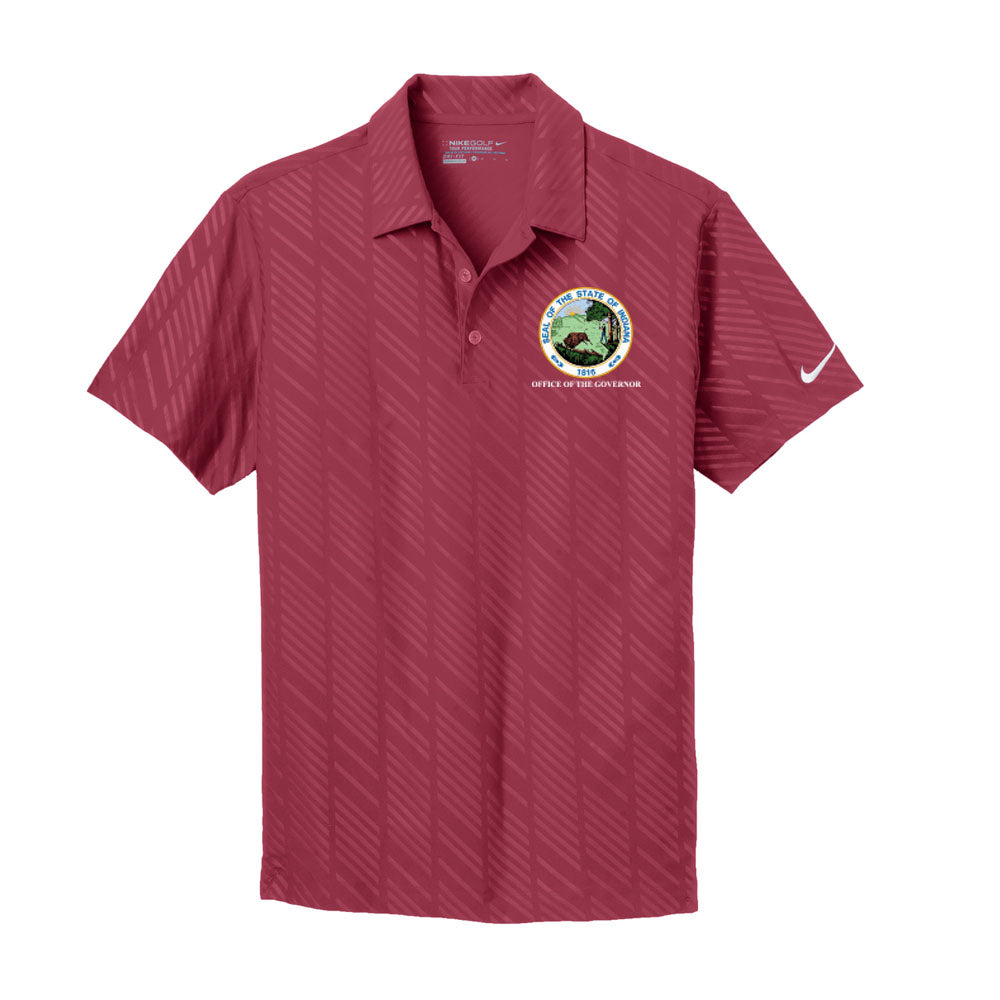 Nike Golf Dry-Fit Embossed Polo - Office of The Governor Indiana State Seal
