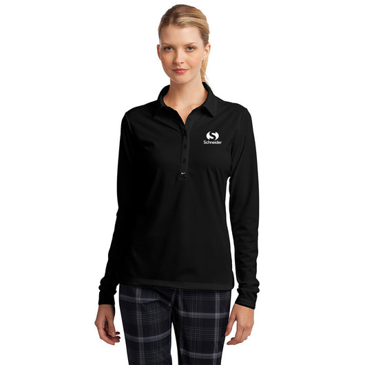 Schneider Nike Golf Ladies Long Sleeve Dri-FIT Stretch Tech Polo