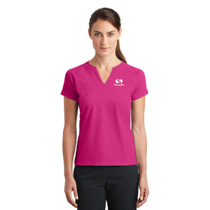Schneider Nike Golf Ladies Dri-FIT Stretch Woven V-Neck Top