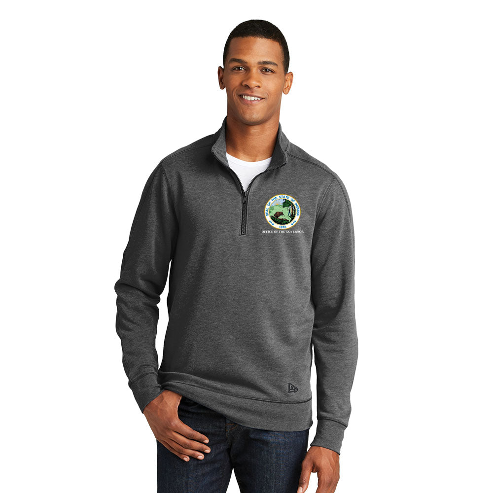 NEW Heavy Weight PosiCharge Sport-Wick Heather Fleece 1/4-Zip - Office of The Governor Indiana State Seal