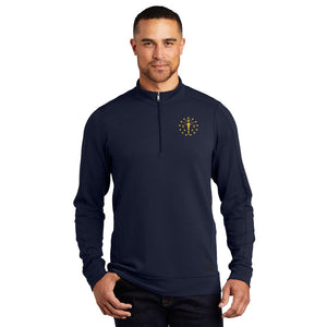 Mens Luuma 1/2-Zip Fleece - Indiana Torch