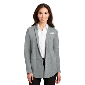 URISA Port Authority® Ladies Interlock Cardigan