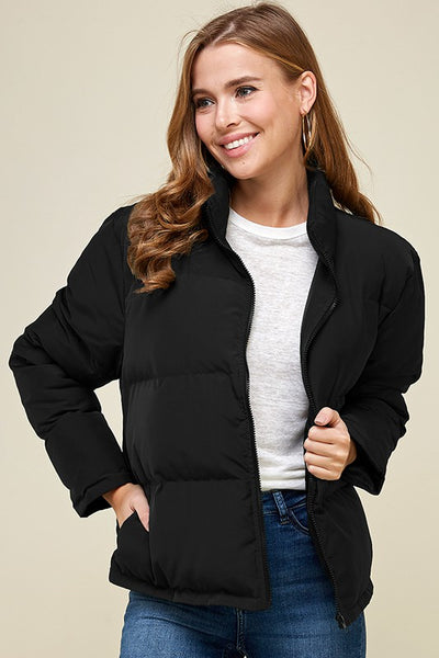 Long Sleeve Puffer Jacket - Addict Apparel