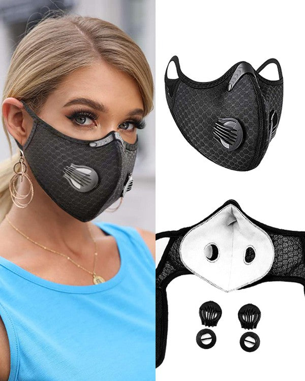 2 Valve Filtered Face Mask* - Addict Apparel