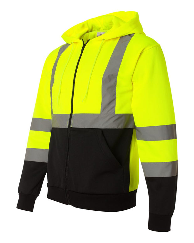 Kishigo - Hi-Vis Full-Zip Hooded Sweatshirt* - Addict Apparel