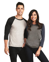 Next Level - Unisex Tri-Blend Three-Quarter Sleeve Baseball Raglan Tee