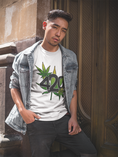 420 w/Marijuana Leaves T-Shirt* - Addict Apparel