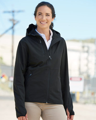 DRI DUCK - Women's Ascent Soft Shell Hooded Jacket* - Addict Apparel