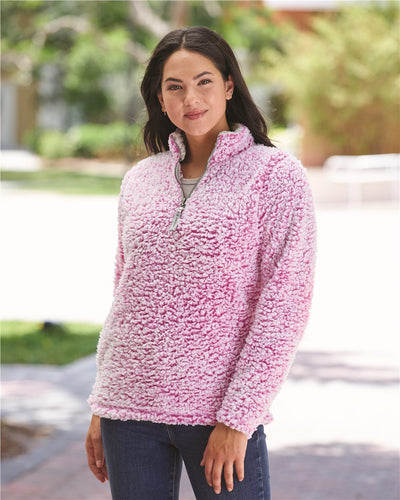 J. America - Women's Epic Sherpa Quarter-Zip Pullover* - Addict Apparel