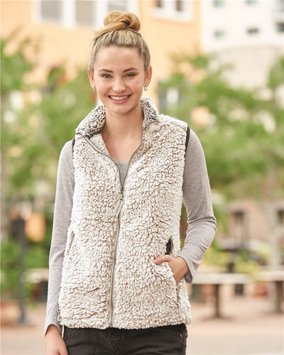J. America - Women's Epic Sherpa Full-Zip Vest* - Addict Apparel